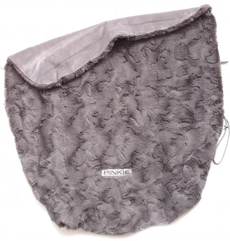 Összehúzható Fur Grey takaró