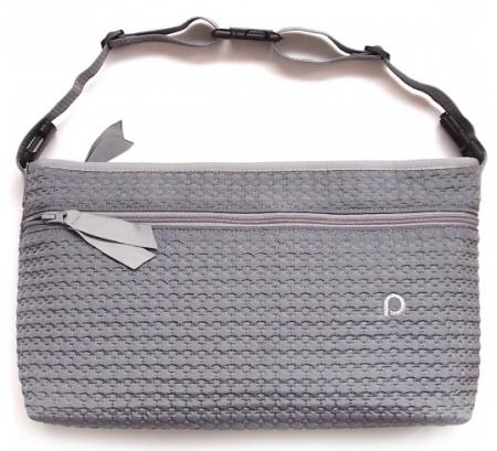 Small Grey Comb rendező táska babakocsira elülső zsebbel - L