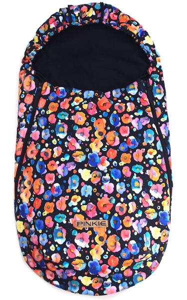 Flowers Black  BIO vékonyabb bundazsák