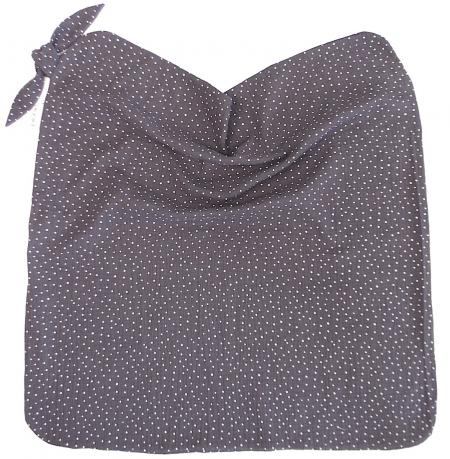 Nyári Muslin Dark Grey Dots takaró