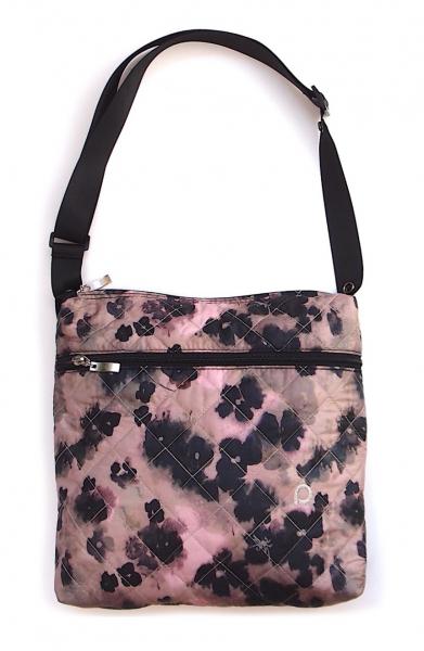 Black Flowers-crossbody pelenkázó táska - KICSI
