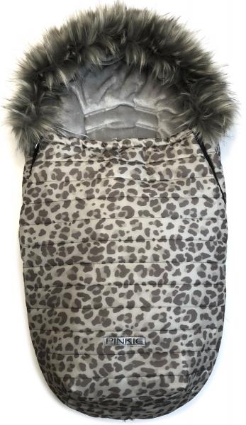 Pinkie Animal Grey szőrmés bundazsák