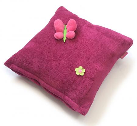 Dark Pink Meadow kis párna