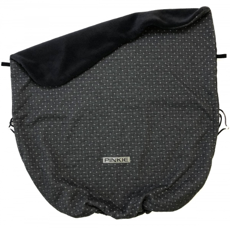 Összehúzható Diamond Dark Grey takaró