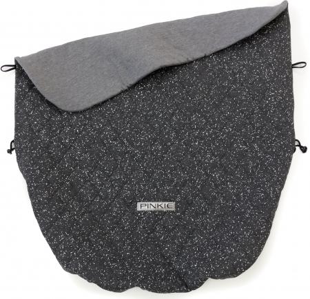 Összehúzható Marble Dark Grey takaró