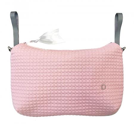 Small Pink Comb  rendező táska babakocsira - NAGY