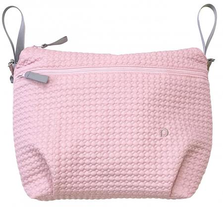Small Pink Comb rendező táska babakocsira - XXL
