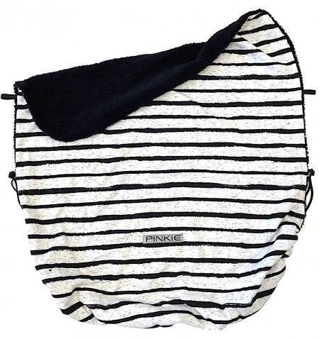 Összehúzható Pinkie Stripe White takaró