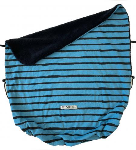 Összehúzható Pinkie Stripe Blue takaró
