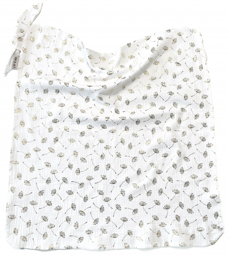 Nyári Muslin Flower White takaró