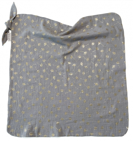 Nyári Muslin Flower Grey takaró