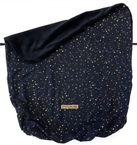 Összehúzható Shine Gold Black takaró