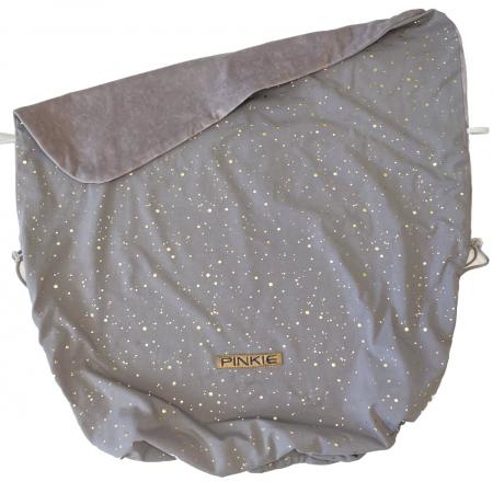 Összehúzható Shine Gold Grey takaró