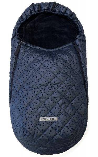 Vékonyabb Pinkie Dark Blue Dots bundazsák