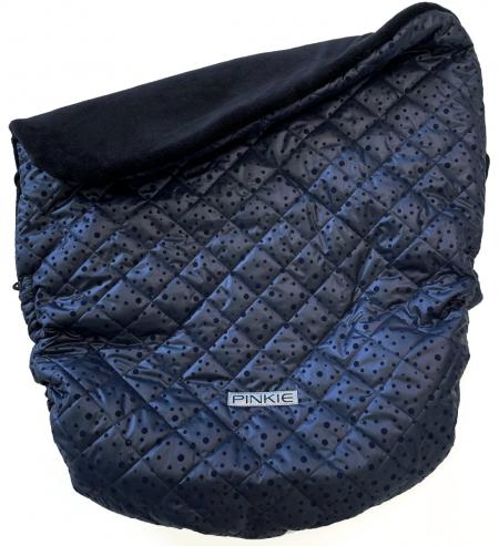 Szigetelt Dark Blue Dots összehúzható takaró