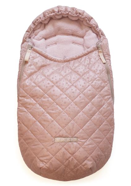 Téli Soft Pink Dots bundazsák 0-12 hónap