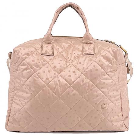 Soft Pink Dots M táska babakocsira