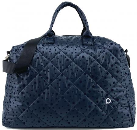 Dark Blue Dots XL  táska babakocsira