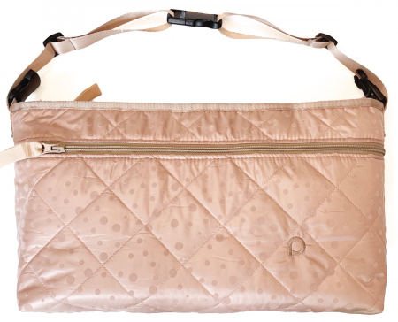 Soft Pink Dots rendező táska babakocsira elülső zsebbel - L