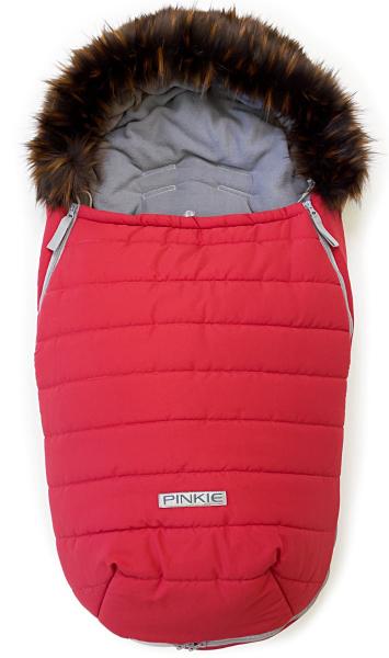 Pinkie Red szőrmés bundazsák