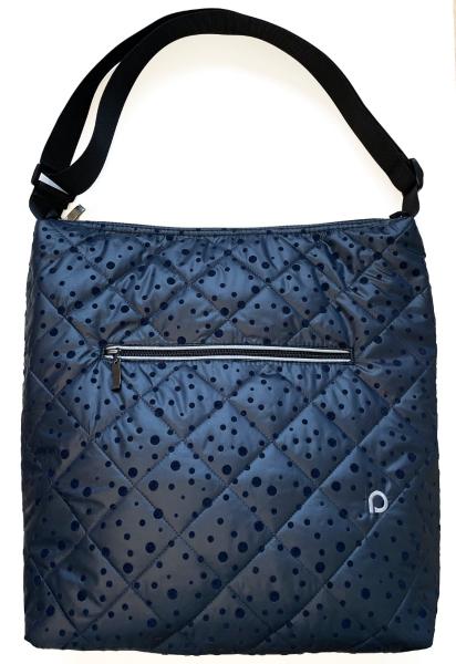 Dark Blue Dots pelenkázó táska babakocsira - NAGY