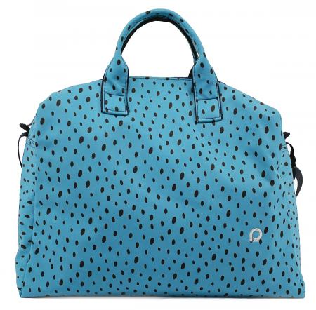 Softshell Dots Blue M táska babakocsira