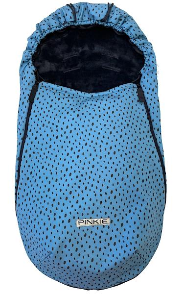 Vékonyabb Pinkie Softshell Dots Blue bundazsák
