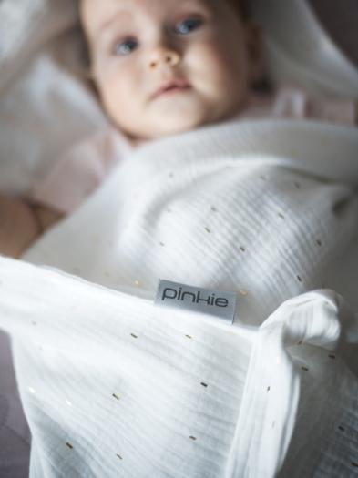 Nyári Pinkie Muslin White takaró